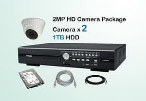 2x AVTECH HD Camera CCTV Installation Package