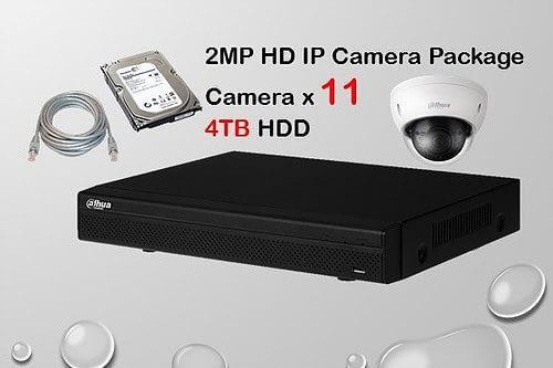 11x DAHUA HD IP Camera CCTV Installation Package