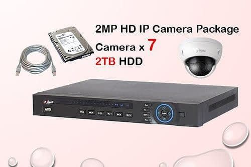 7x DAHUA HD IP Camera CCTV Installation Package
