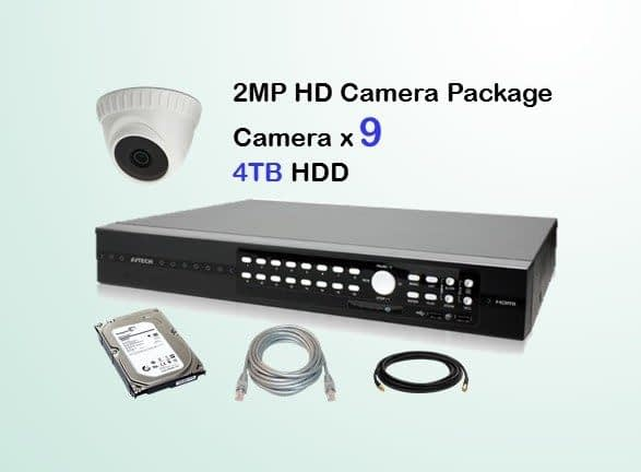 9x AVTECH HD Camera CCTV Installation Package