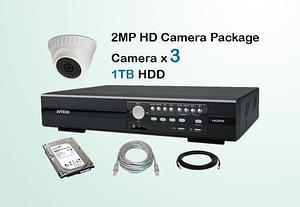 3x AVTECH HD Camera CCTV Installation Package