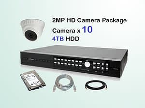 10x AVTECH HD Camera CCTV Installation Package