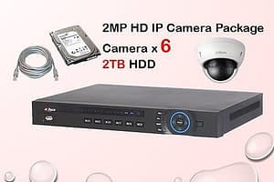 6x DAHUA HD IP Camera CCTV Installation Package