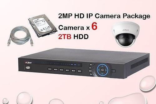 6x DAHUA HD IP Camera CCTV Installation Package