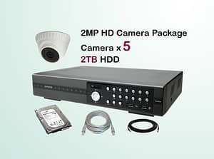 5x AVTECH HD Camera CCTV Installation Package