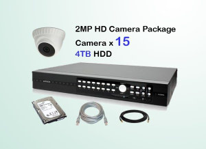 15x AVTECH HD Camera CCTV Installation Package