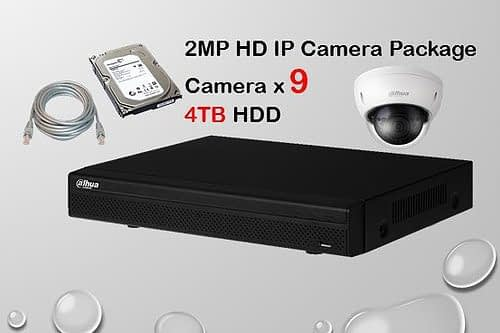 9x DAHUA HD IP Camera CCTV Singapore Installation Package