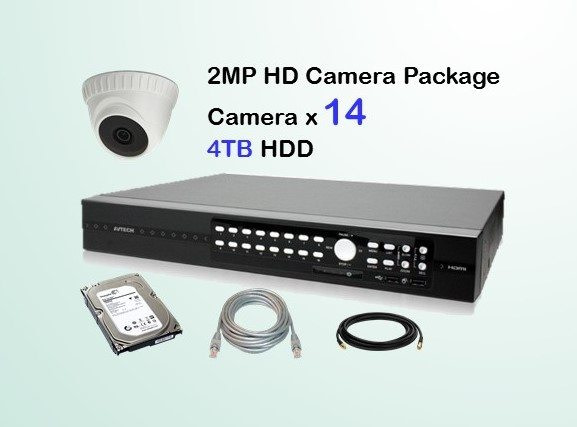 14x AVTECH HD Camera CCTV Installation Package