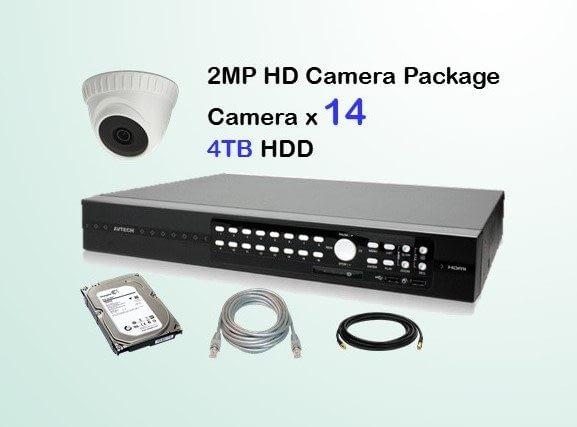 14x AVTECH HD Camera CCTV Installation Package