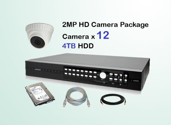 12x AVTECH HD Camera CCTV Installation Package