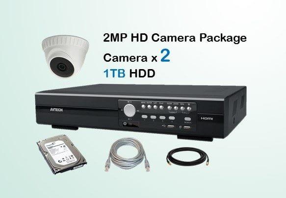 2x AVTECH HD Camera CCTV Installation Package