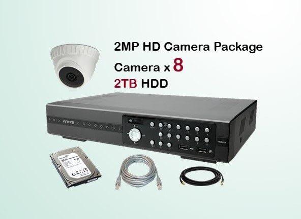 8x AVTECH HD Camera CCTV Installation Package