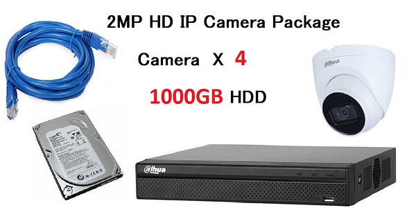 4x DAHUA HD IP Camera CCTV Singapore Installation Package