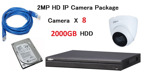 8x DAHUA HD IP Camera CCTV Singapore Installation Package
