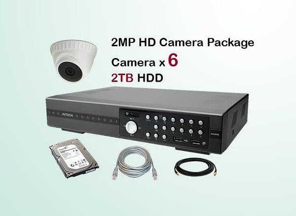 6x AVTECH HD Camera CCTV Installation Package