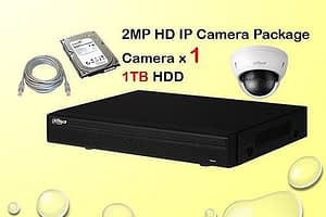 1x DAHUA HD IP Camera CCTV Installation Package