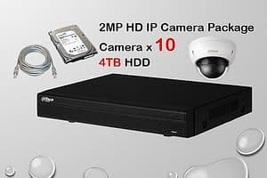 10x DAHUA HD IP Camera CCTV Installation Package