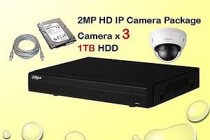 3x DAHUA HD IP Camera CCTV Installation Package