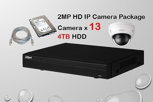 13x DAHUA HD IP Camera CCTV Installation Package