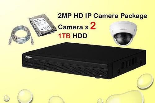 2x DAHUA HD IP Camera CCTV Installation Package