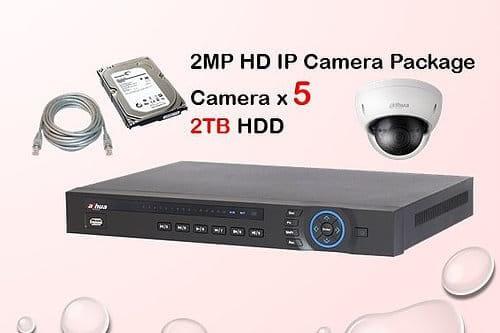 5x DAHUA HD IP Camera CCTV Installation Package