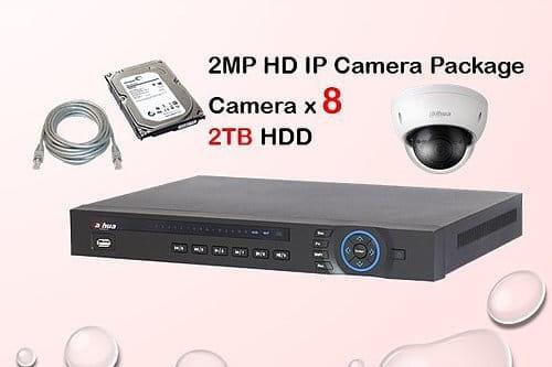 8x DAHUA HD IP Camera CCTV Installation Package
