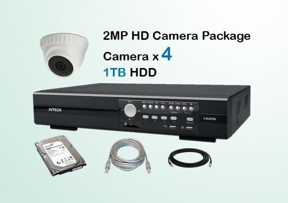 4x AVTECH HD Camera CCTV Installation Package