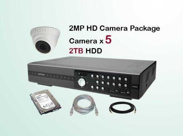 5x AVTECH HD Camera CCTV Installation Package